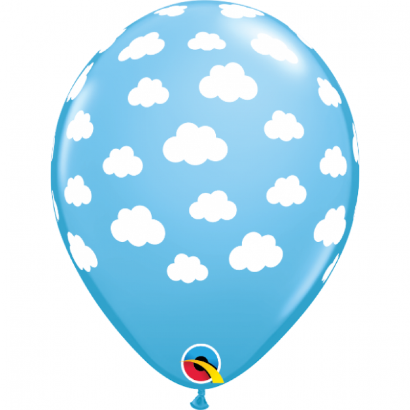 11″ Cloudy Day Pale Blue Round Latex Balloon
