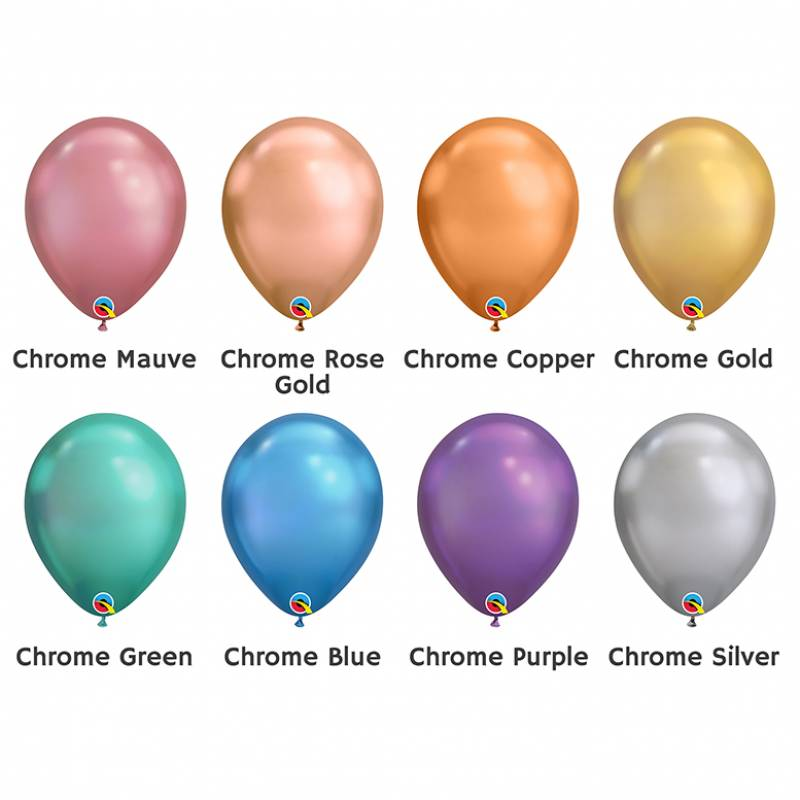7'' Chrome Round Latex Balloon