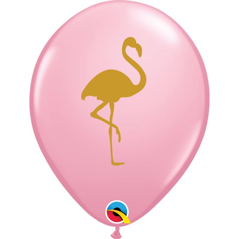 11'' Flamingo Fashion Pink Round Latex Balloon