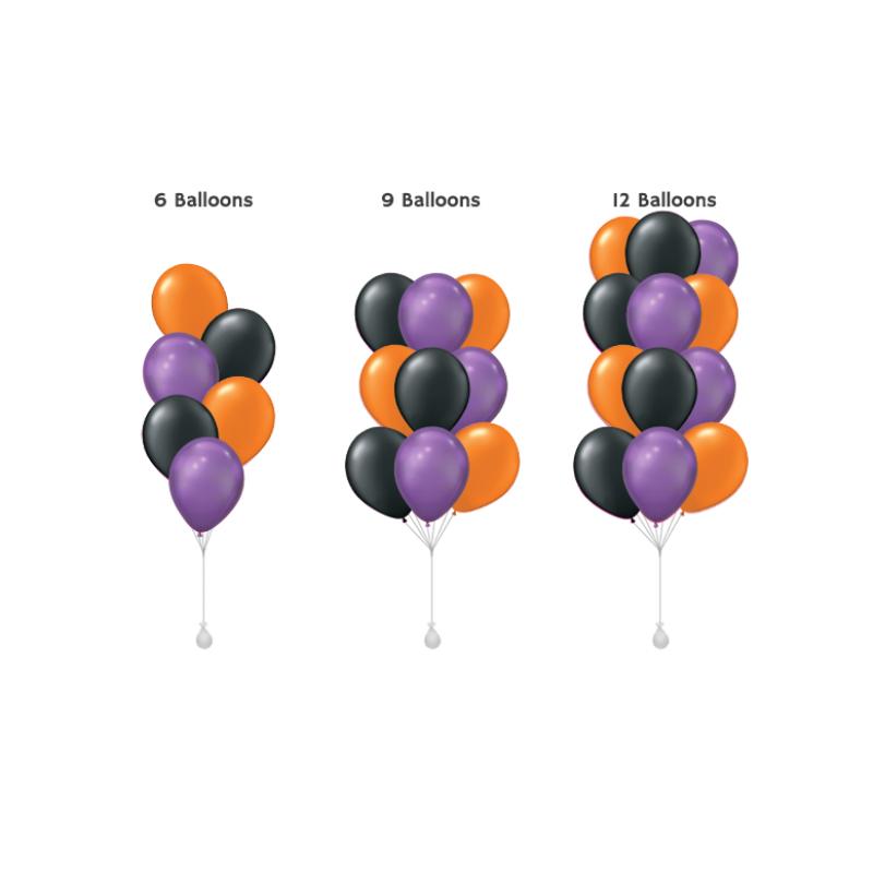 11'' Halloween Round Latex Balloon Cluster