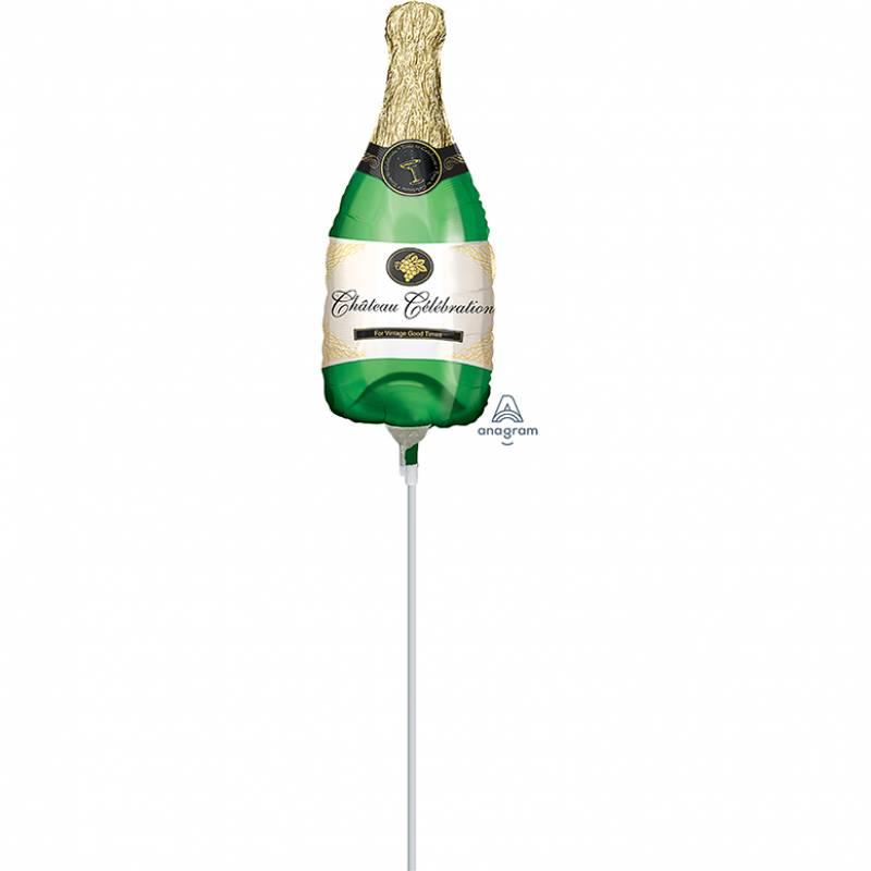 "14"" Chateau Celebration Champagne Bottle Mini Shape Foil Balloon"