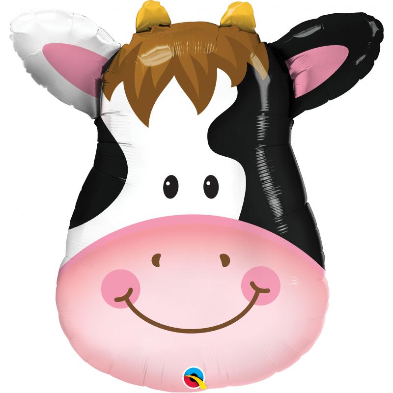 14'' Contented Cow Mini Shape Foil Balloon