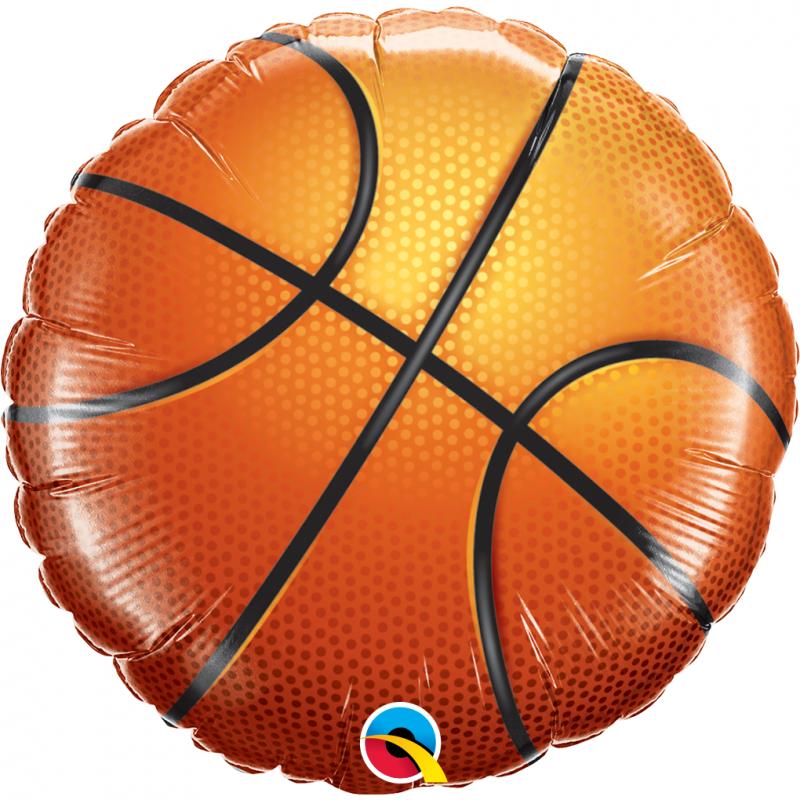 18'' Basketball Round Foil Balloon