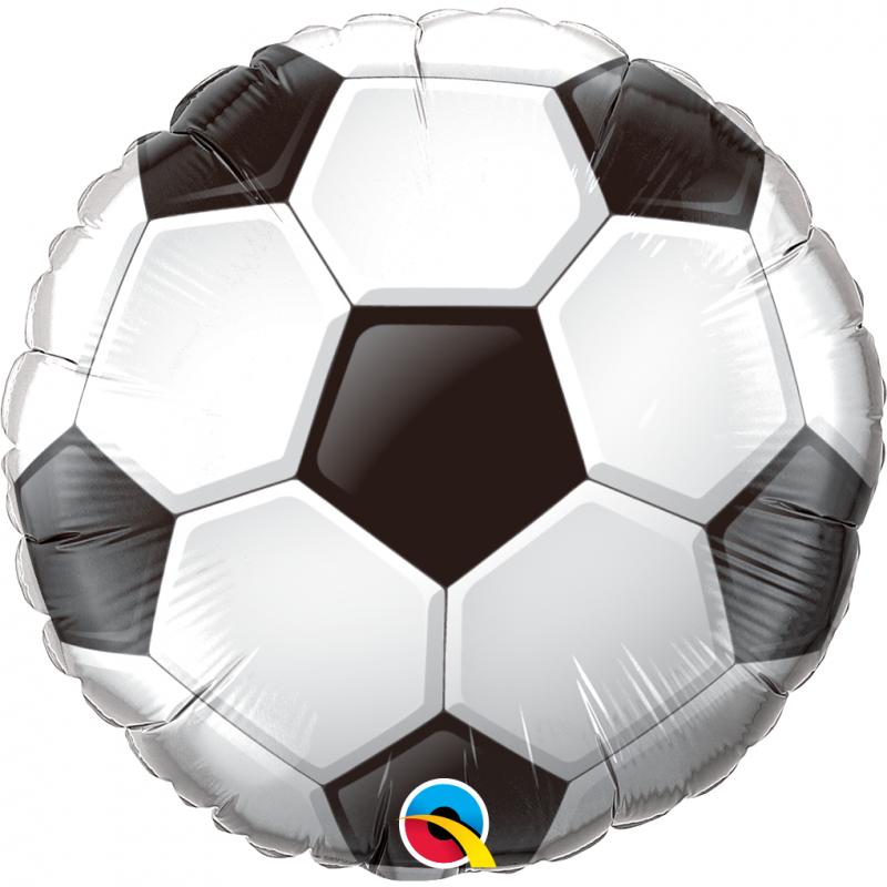 18'' Soccer Ball Round Foil Balloon