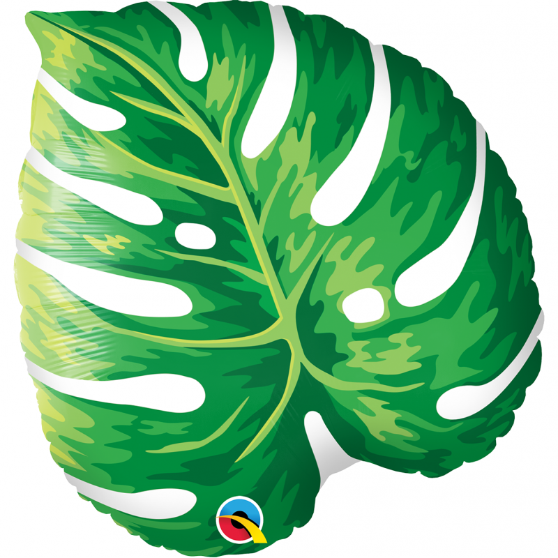 21'' Tropical Philodendron Leaf Shape Foil Balloon