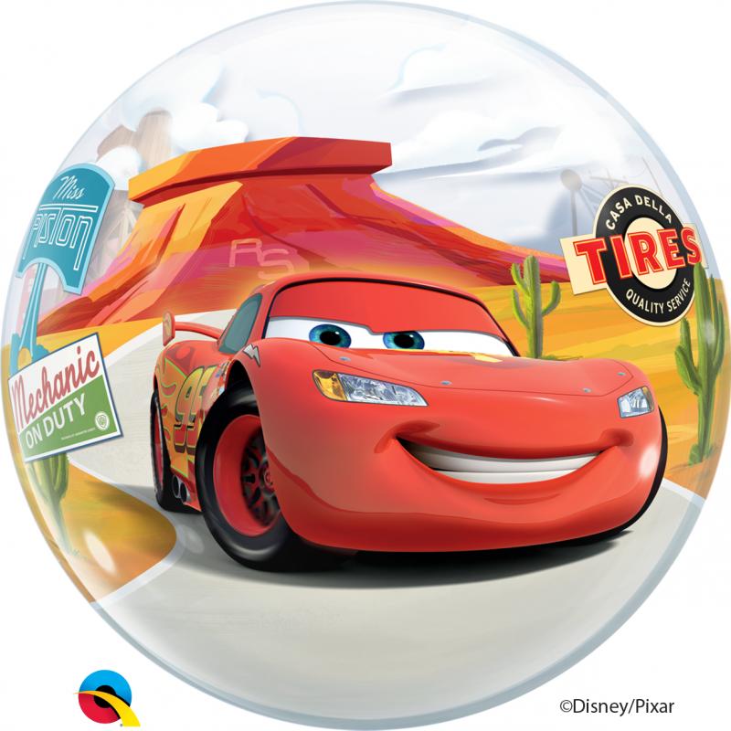 22'' Disney Pixar Cars Lightning McQueen & Mater Bubble Balloon