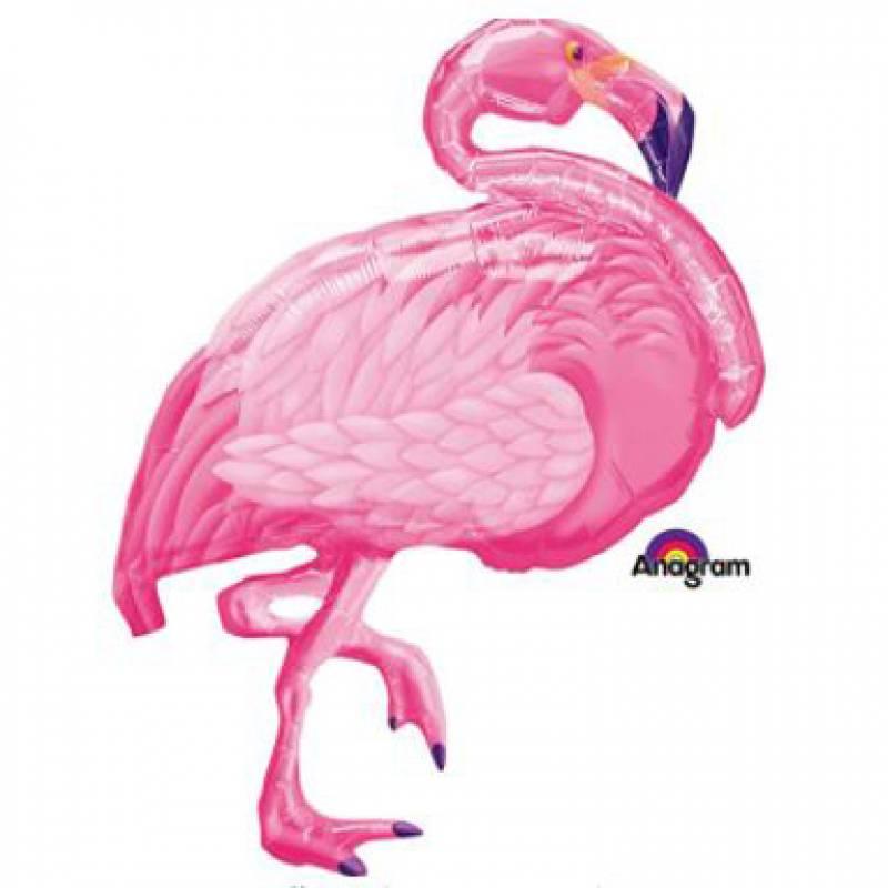 27'' x 35'' Pink Flamingo Shape Foil Balloon