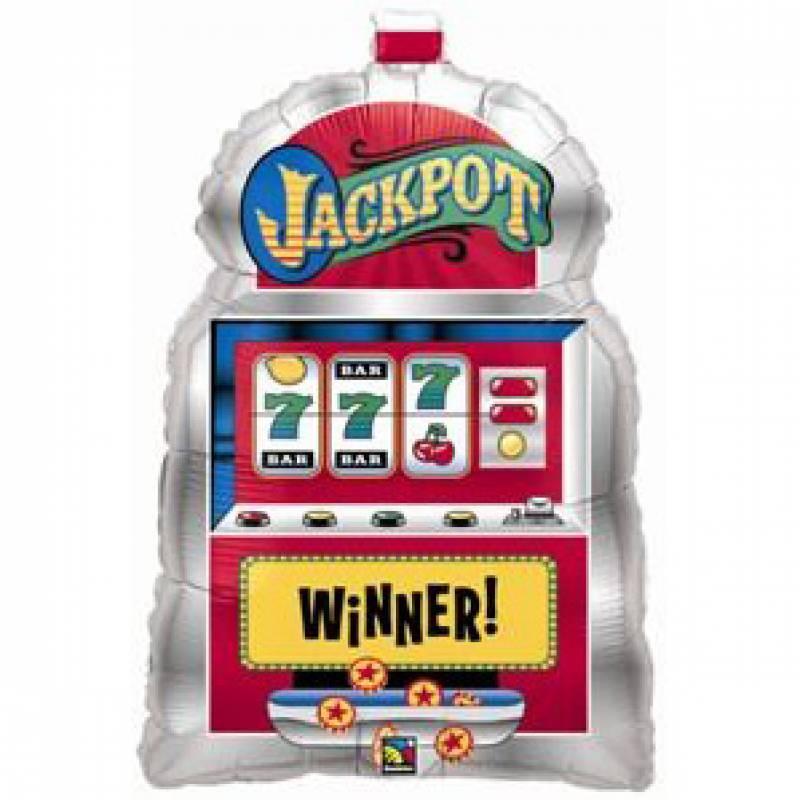 29'' Slot Machine Jackpot Shape Foil Balloon