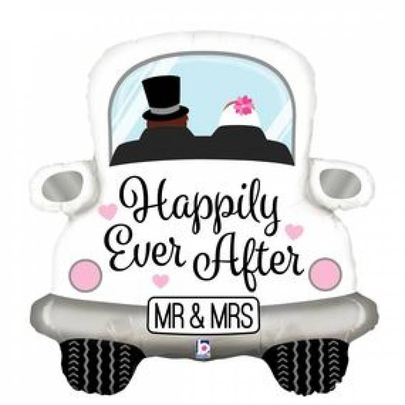 31'' Happily Ever After Wedding Car Shape Foil Balloon