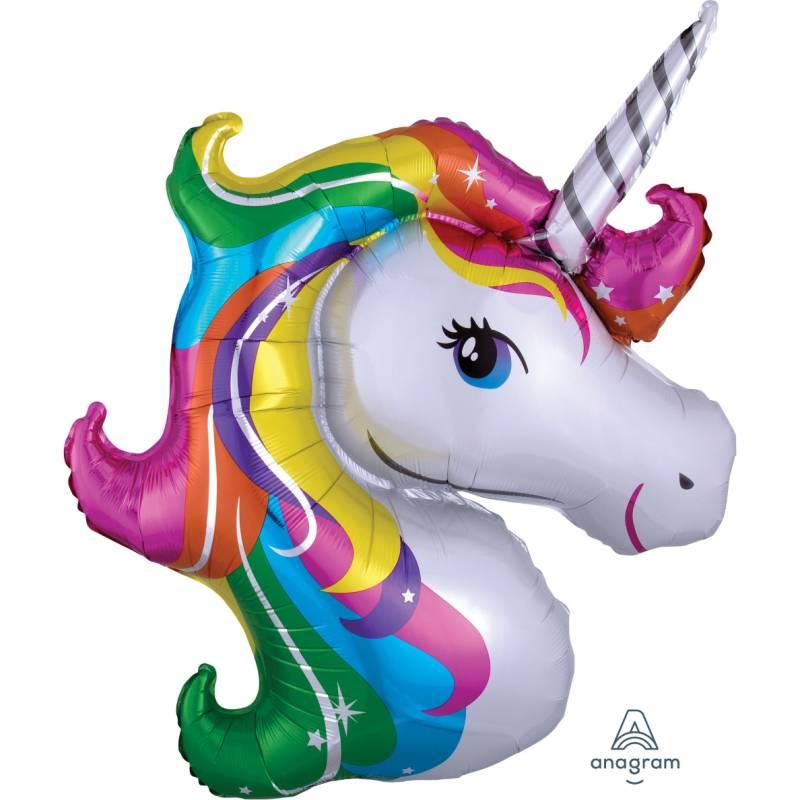 33'' Rainbow Unicorn Shape Foil Balloon