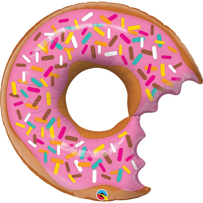 36'' Bit Donut and Sprinkles Shape Foil Balloon