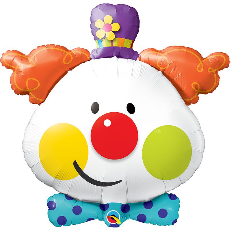 36'' Cute Clown Shape Foil balloon