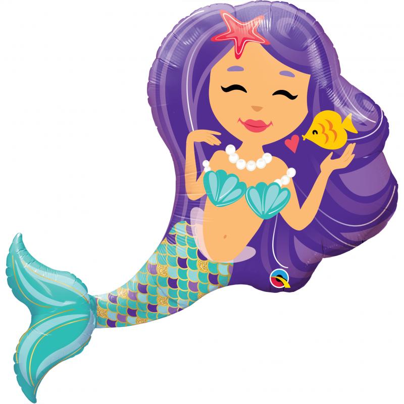 38'' Enchanting Mermaid Shape Foil Balloon