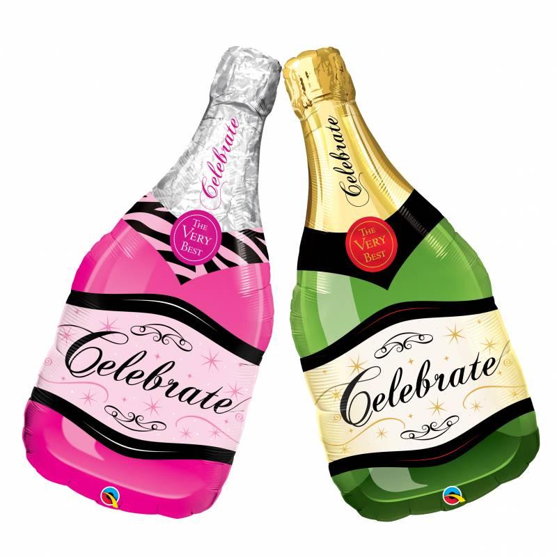 39'' Celebrate Champagne Bottle Shape Foil Balloon