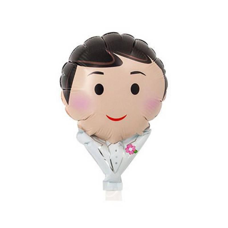 5'' Groom White Tux Shape Foil Balloon