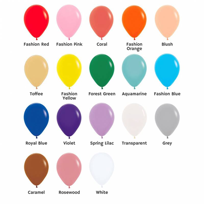 5'' Fashion Colour Round Latex Balloon