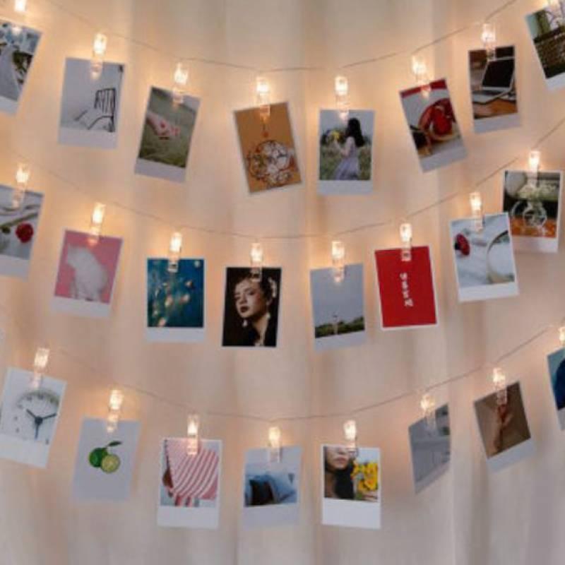 5m Photo Clip Warm Yellow LED String Lights