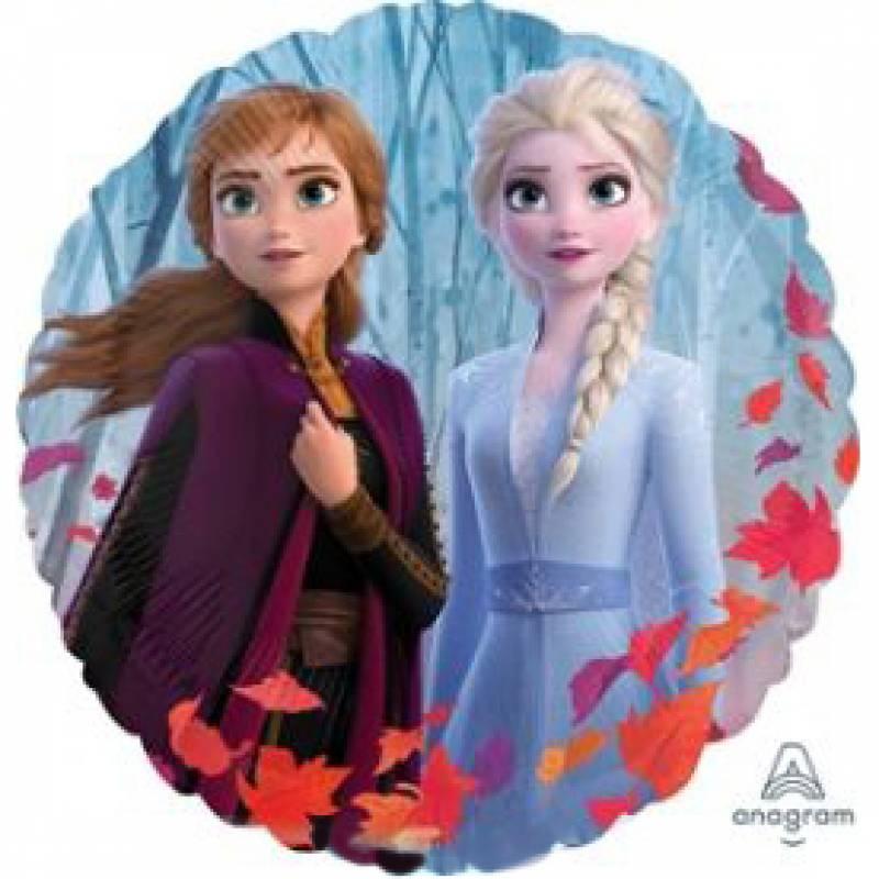 9'' Disney Frozen 2 Elsa and Anna Mini Round Foil Balloon