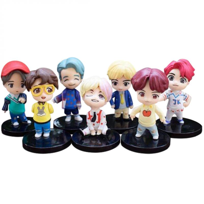 BTS Toy Cake Topper Set