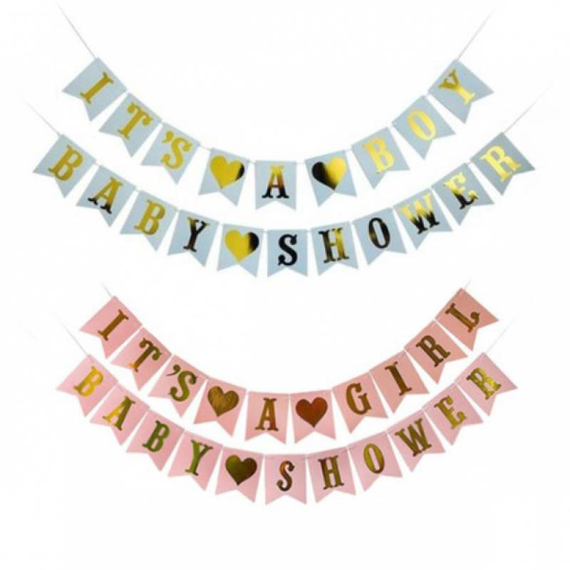Baby Shower Gold Text Bunting