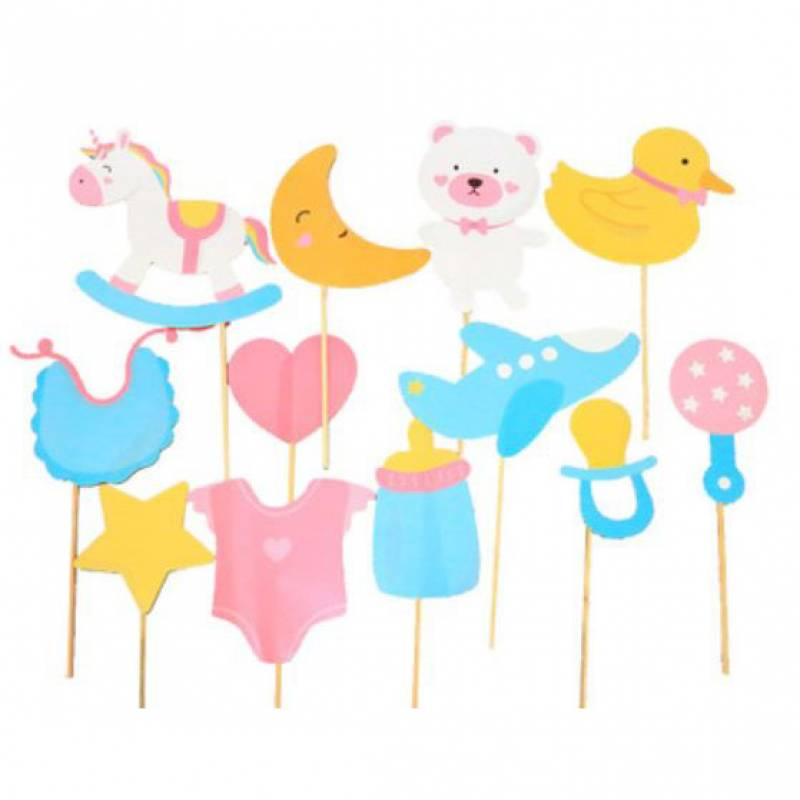 Baby Shower Baby Toys Photobooth Prop Set