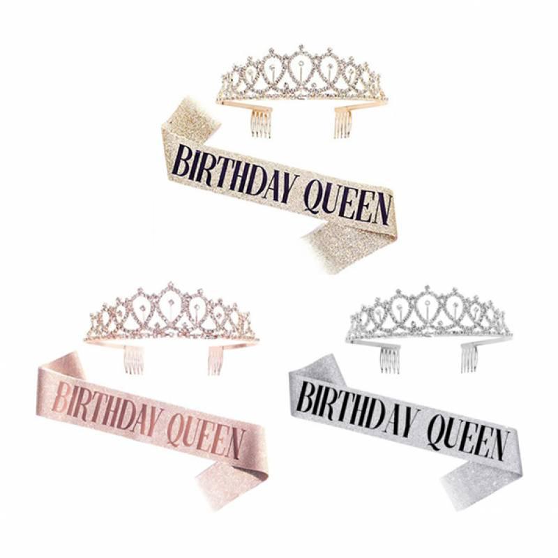 Birthday Queen Tiara and Sash Set