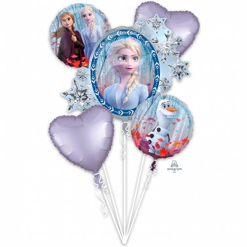 Disney Frozen 2 Elsa Anna and Olaf Balloon Bouquet