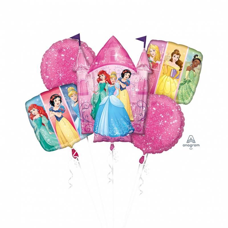 Disney Princesses Pink Sparkle Balloon Bouquet