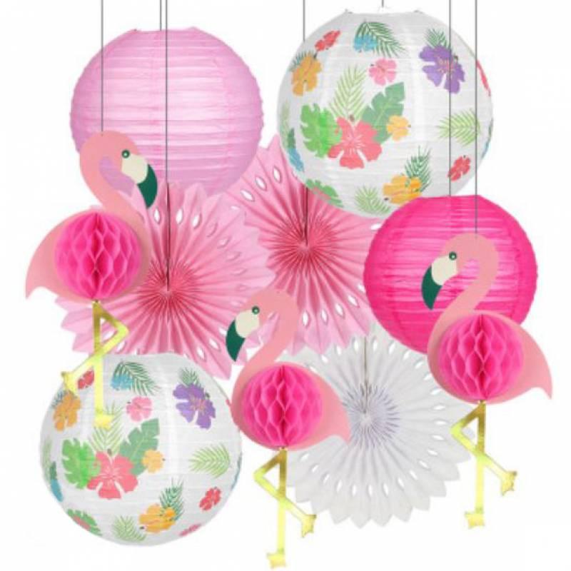 Flamingo Paper Honeycomb Party Decoration Set