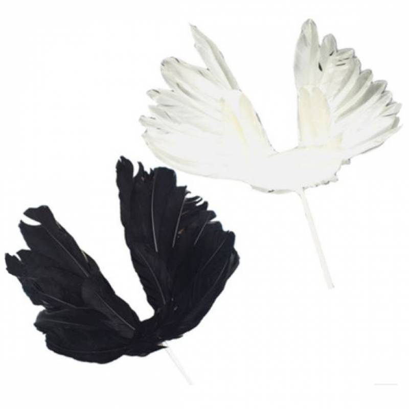 Flourished Angel Wings Cake Topper