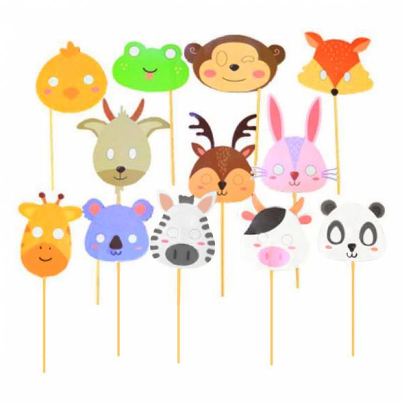 Friendly Animals Photobooth Prop Set