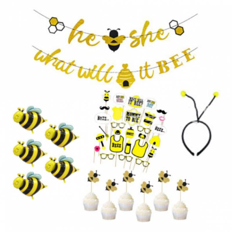 Gender Reveal What Will It Bee Party Decoration Set