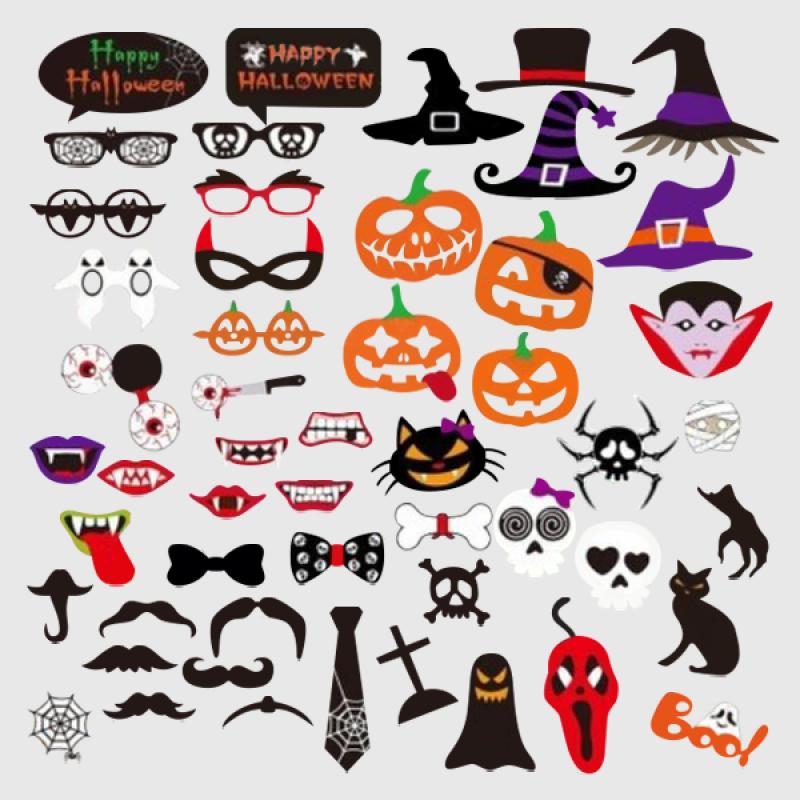 Halloween Costumes Photobooth Prop Set