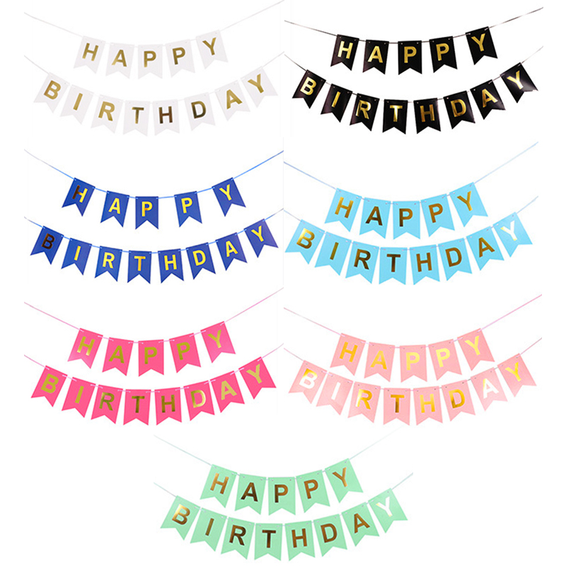 Happy Birthday Fashion Colour Bunting