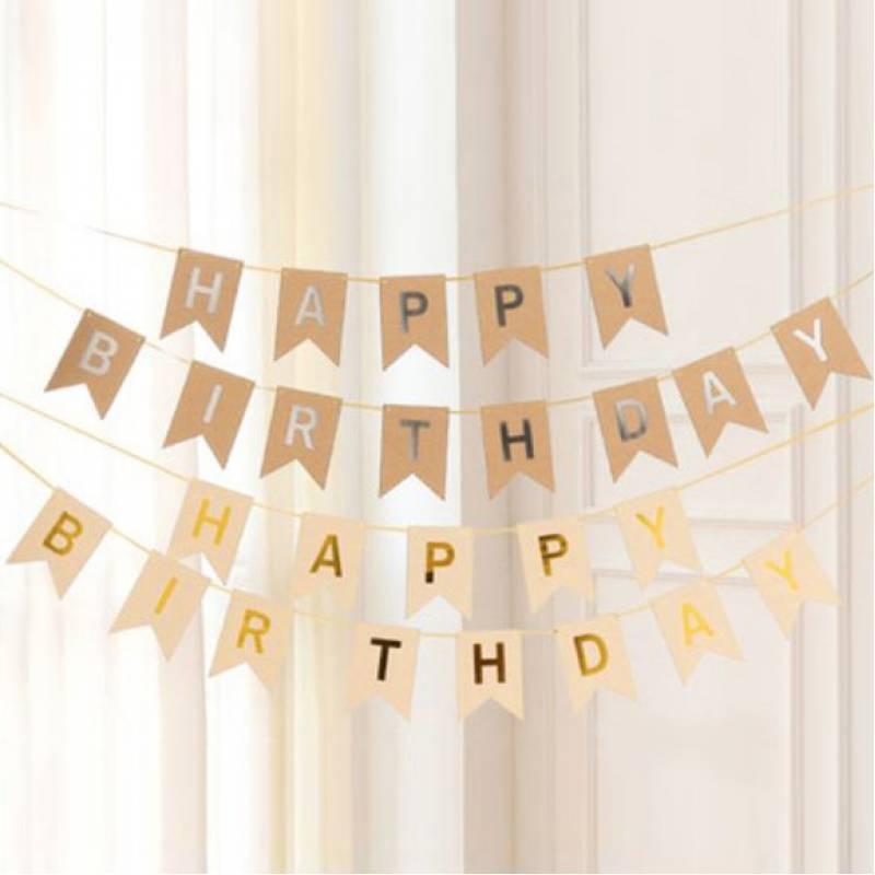 Happy Birthday Kraft Bunting