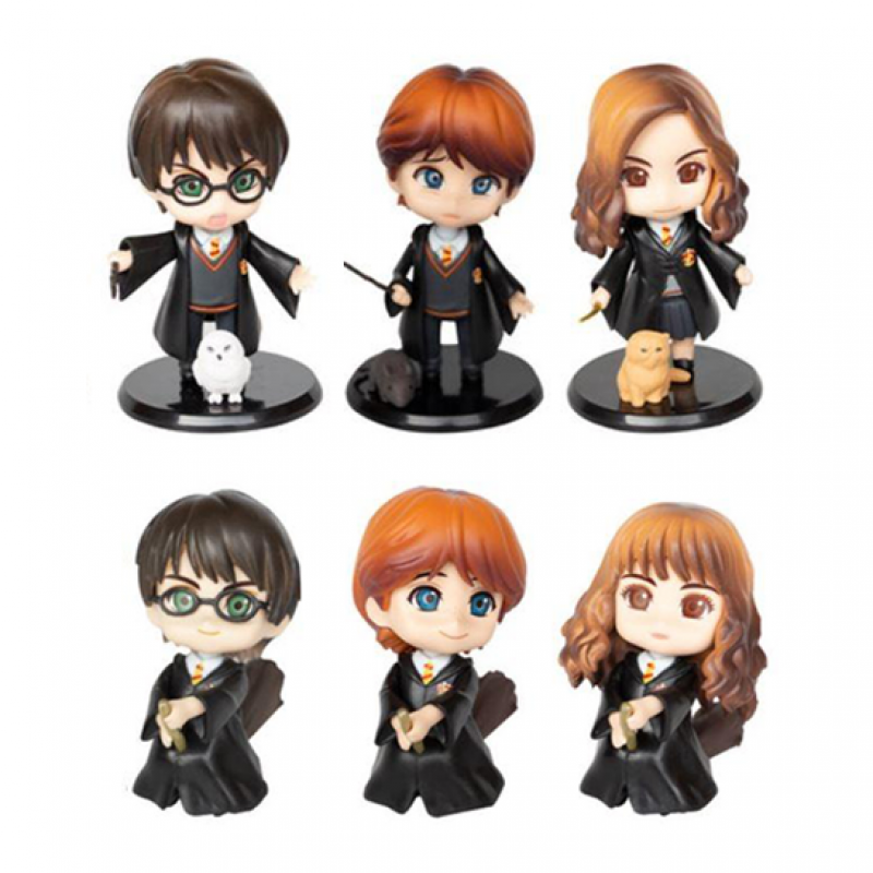 Harry Potter Harry Ron Hermione Toy Cake Topper Set