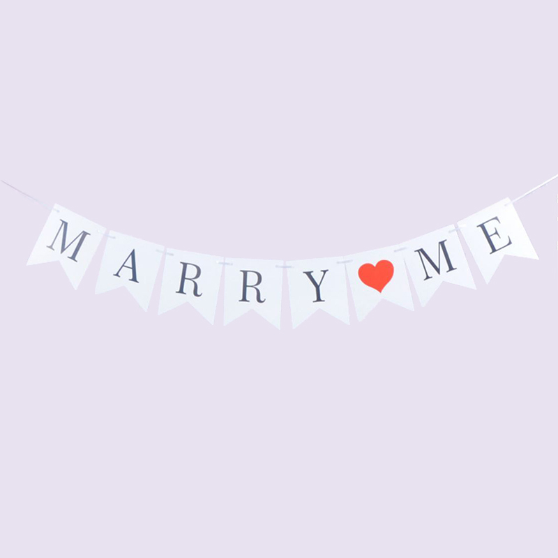 Marry Me Hearts Bunting