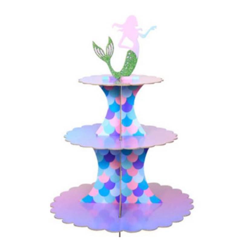 Mermaid 3 Tier Cupcake Stand