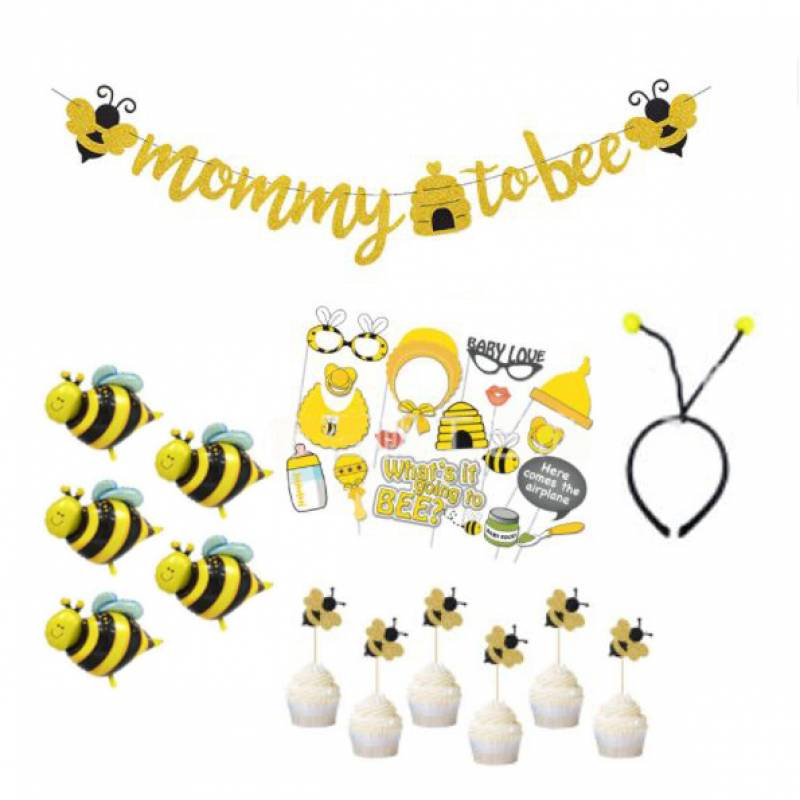 Mommy To Bee Party Decoration Set