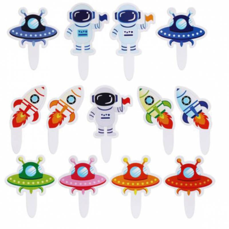 Space Party Cupcake Topper Set