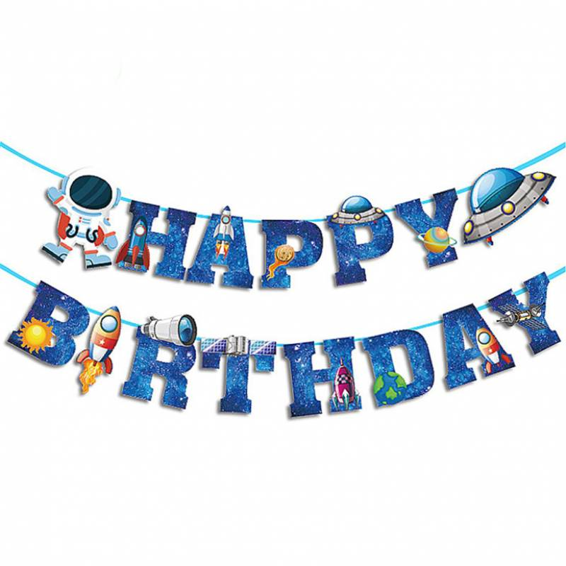 Happy Birthday Astronauts and Space Bunting