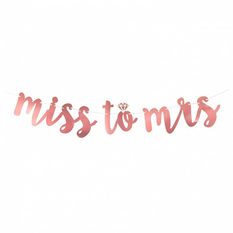 Rose Gold Miss to Mrs Bunting