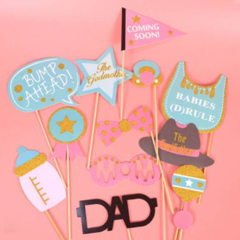 Welcome Baby Party Photobooth Prop Set