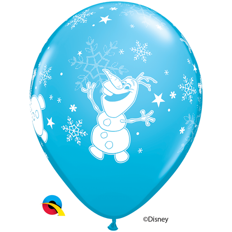 11'' Disney Frozen Dancing Olaf Robin Egg Blue Round Latex Balloon