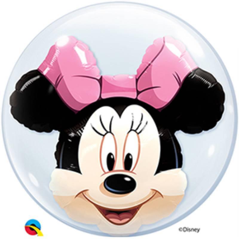 24'' Disney Minnie Mouse Double Bubble Balloon