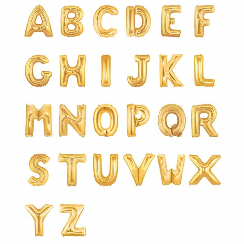 "40"" Metallic Gold Alphabet Shape Foil Balloon"