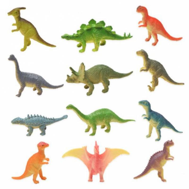 Mini Dinosaur Toy Cupcake Topper Set
