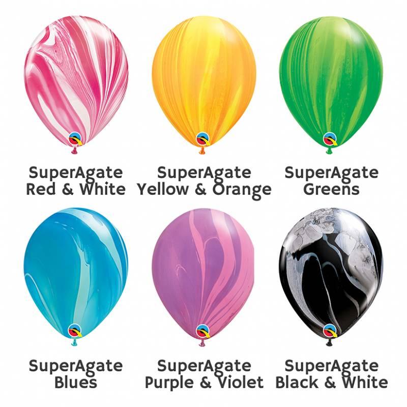 11'' SuperAgate Round Latex Balloon