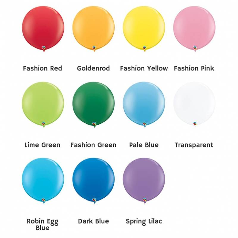 36'' Fashion Colour Round Latex Balloon