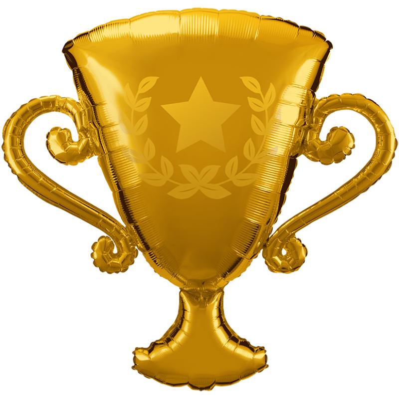 39'' Golden Trophy Shape Foil Balloon